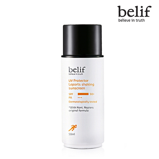Belif UV Protector Leports shaking sunscreen