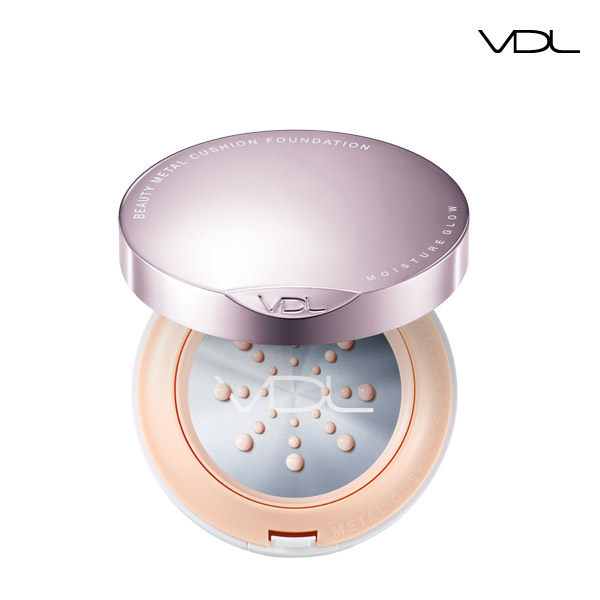 VDL Beauty Metal Cushion Foundation Moisture Glow (17 years / 15g * 2)