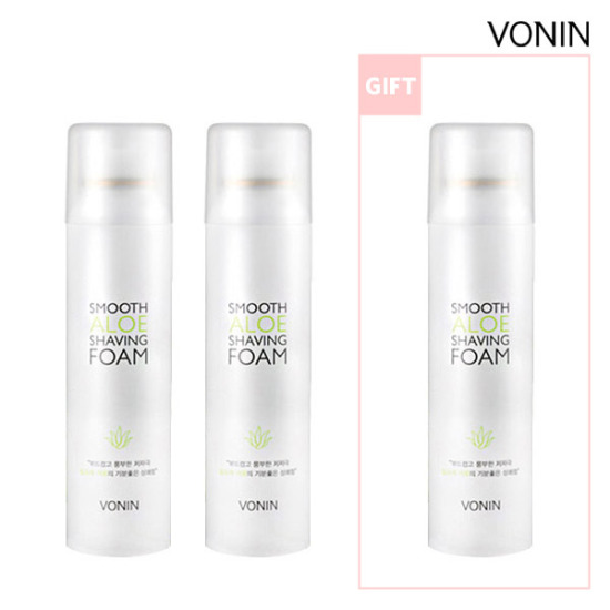 [Limited quantity 1 + 1 + 1] VONIN Smooth Aloe shaving foam 120mlx3