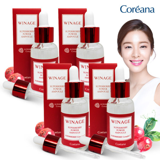 [Skin Vitality Energy] Coreana WINEE Superberry Power Ampoules 30mlX4
