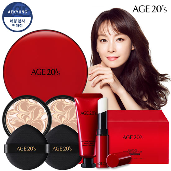 Age-to-Wennis Signature essence Cover Pact [Modern Red Edition] (box1 + Refill 2 + Lip Balm + Hand Cream)