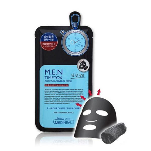 Mediheal MEN Time Tox Charcoal Mineral Mask (EX)