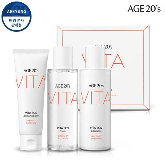 Age to Wenis SOS Vita Skin care 3 set (Toner + Emulsion + Cleansing Foam)