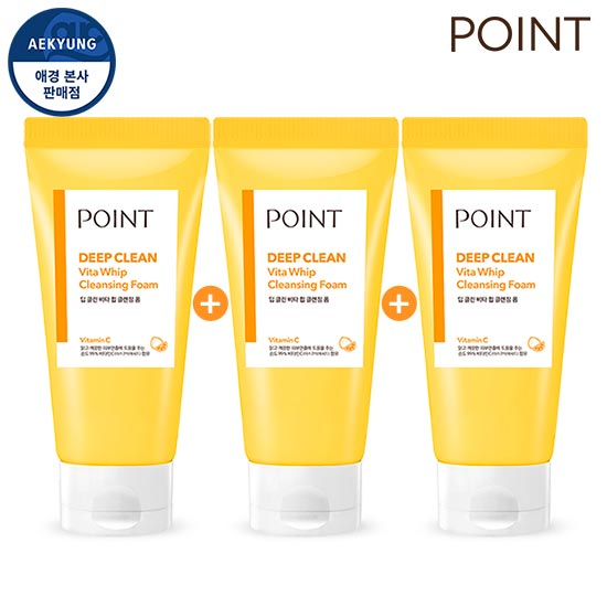 Point Deep Clean Vita Whip Cleansing foam 175gX3Piece