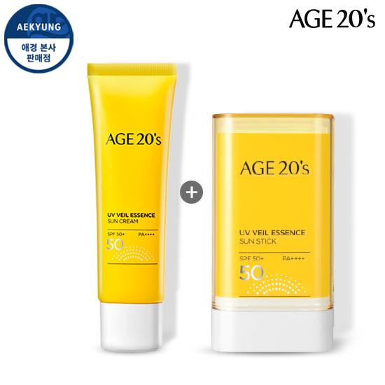 (2 sets of sun care) AGE TO WENIS UV Veil essence Sunscreen + Sun stick SPF50 + / PA ++++